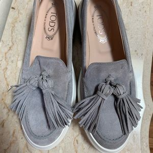 TODS Grey Loafers